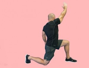 kneeling lunge hip flexor stretch